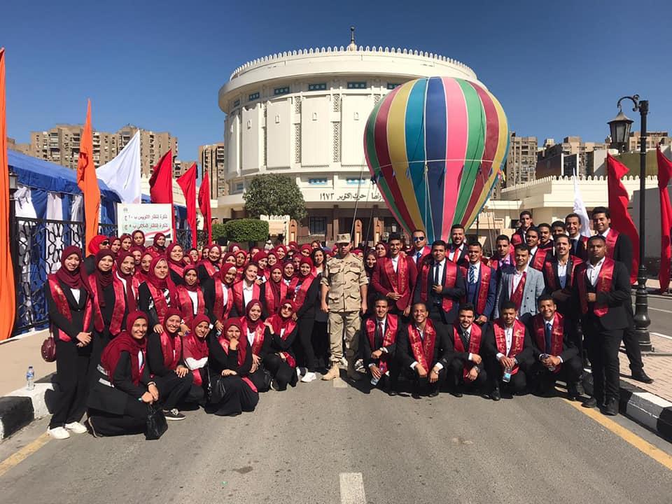  جامعة عين شمس تشارك في الاحتفال بالذكرى 46 الانتصارات اكتوبر المجيدة