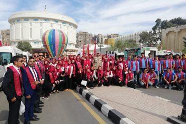 طلاب جامعة عين شمس في ختام فاعليات معرض الثقافات العسكري